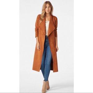 Jackets & Blazers - Faux Suede Drape Coat